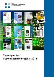 Teamflyer des Systemtechnik-Projekts 2011 - NTB - Interstaatliche ...