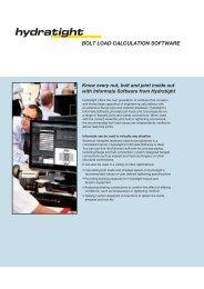 Informate - Bolt Load Calculation Software (UK) - Hydratight