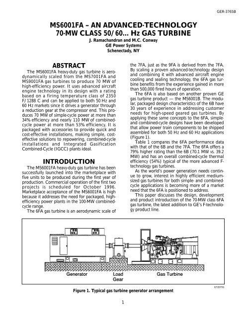 70 mw gas turbine