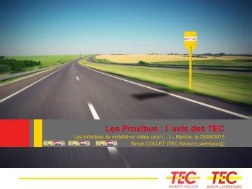 Les Proxibus : l'avis des TEC