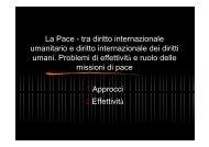 De Stefani P., La Pace - tra diritto internazionale - Archivio