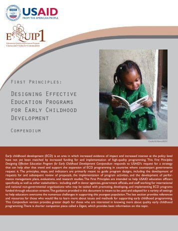 Designing Effective Education Program for Early Childhood - EQUIP ...