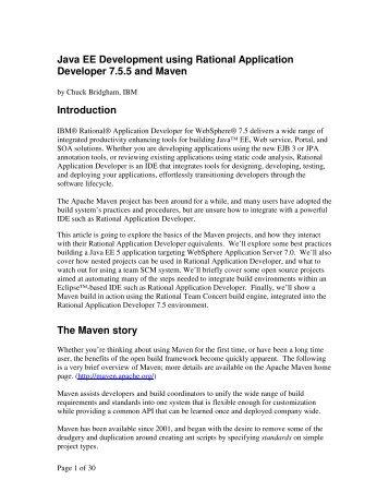 Java EE Development using Rational Application Developer ... - IBM
