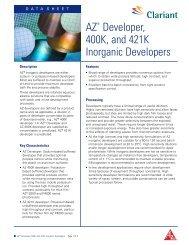 AZ Developer, 400K, and 421K Inorganic Developers