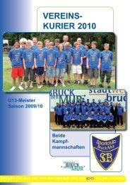 VEREINS- KURIER 2010 - SC Bruck