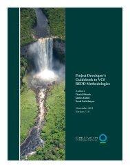 Project Developer's Guidebook to VCS REDD Methodologies