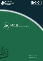 SIGN 50: A guideline developer's handbook