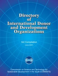 Directory of International Donor and Development ... - Comsats
