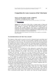 Competition for water resources of the Volta basin - GLOWA