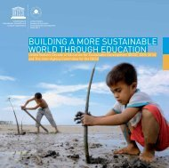 Building a more sustainable world through ... - unesdoc - Unesco