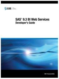 SAS 9.3 BI Web Services Developer's Guide