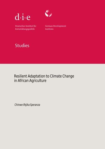 Resilient Adaptation to Climate Change in African Agriculture