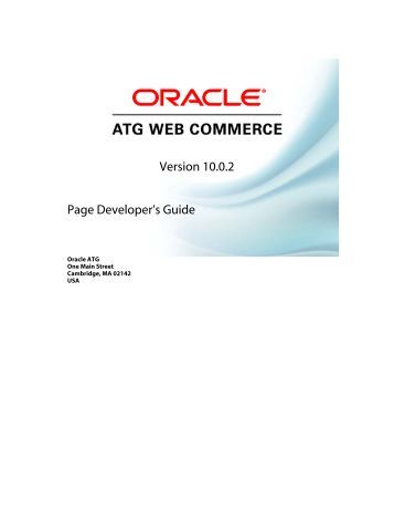 atg commerce programming guide oracle documentation