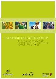 EDUCATION FOR SUSTAINABILITY - ARIES - Macquarie University