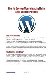 How to Develop Money-Making Niche Sites with WordPress