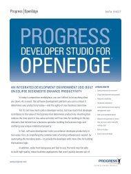 Progress Developer Studio for OpenEdge data sheet
