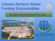 The Budget Development Process