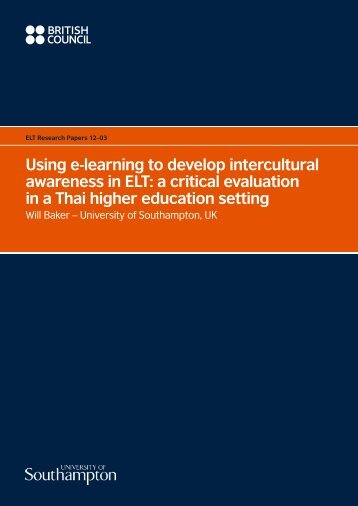 Using e-learning to develop intercultural awareness in ELT: a critical ...