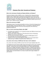 Type 2 Diabetes Risk After Gestational Diabetes Fact - National ...