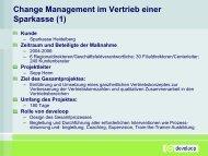 Change Management im Vertrieb einer Sparkasse (1) - develoop
