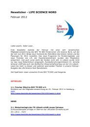 Newsticker - LIFE SCIENCE NORD Februar 2012