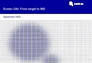 ADME / Tox Hit Profiling at Evotec OAI - More.de AG