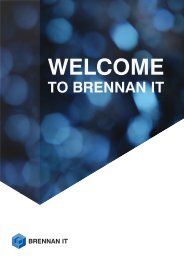 Client Welcome Pack.indd - Brennan IT