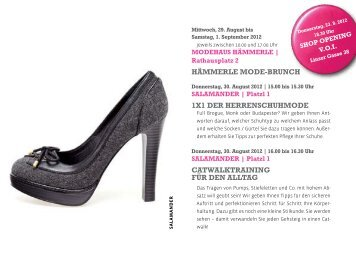 Gesamtprogramm Fashion Weeks - PDF Format ... - Altstadt Salzburg