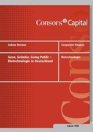 Gene, Gründer, Going Public - PCA Capital Advisors GmbH