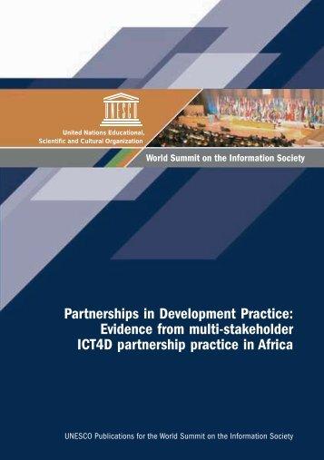 Partnerships in development practice: evidence ... - unesdoc - Unesco