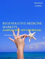 REGENERATIVE MEDICINE MARKETS - TriMark Publications