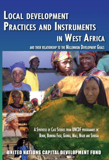 LocaL deveLopment practices and instruments in West - UNCDF