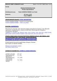 PRODUKTSPEZIFIKATION Product Specification - Geyer Food ...