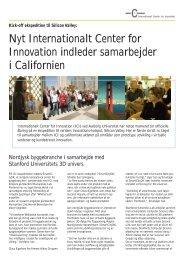 Nyt Internationalt Center for Innovation indleder samarbejder i ...