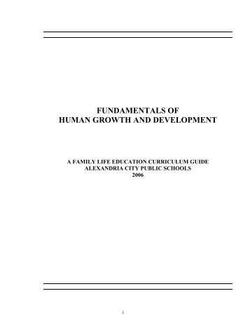 Fundamentals of Human Growth and Development - Alexandria City ...