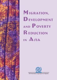 Migration, Development and Poverty Reduction in Asia