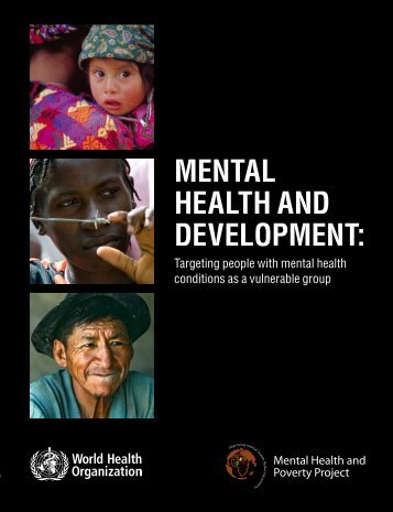MENTAL HEALTH AND DEVELOPMENT: - libdoc.who.int - World ...