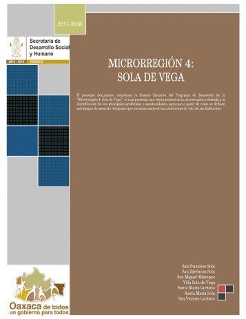 microrregión 4: sola de vega - Secretaría de Desarrollo Social y ...