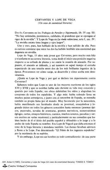 Actas II. AIH. Cervantes y Lope de Vega (Un caso de enemistad ...