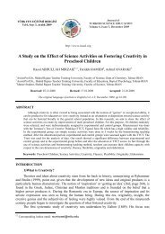 A Study on the Effect of Science Activities on Fostering Creativity in ...