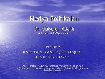 Medya Politikaları - Ankara Üniversitesi Siyasal Bilgiler Fakültesi ...
