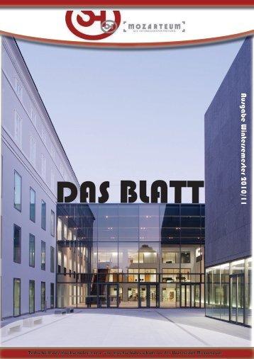 Das BLATT - Wintersemester 2010 / 11 - ÖH Mozarteum