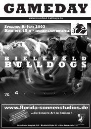 spieltag 8. juni 2003 kick off 15 h · radrennbahn bielefeld gameday