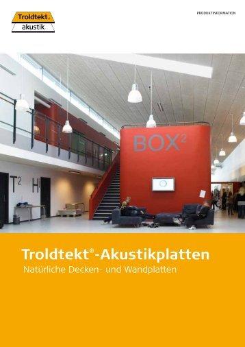 Troldtekt®-Akustikplatten - Prottelith Produktionsgesellschaft mbH