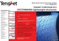[RE]THINKING lightweight structures - TensiNet