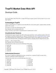BLPAPI: Developer's Guide - Open Market Data Initiative