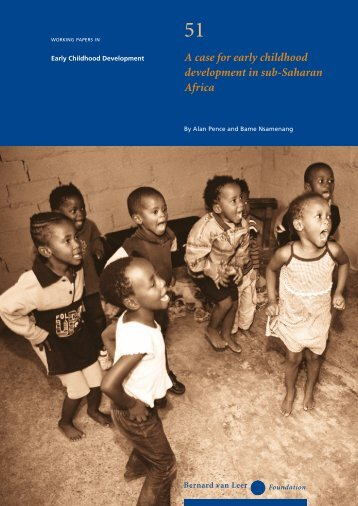 A case for early childhood development in sub-Saharan Africa