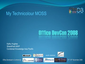 Office DevCon 2008 - SharePoint MindsharpBlogs
