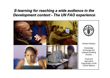 E-learning for reaching a wide audience in the Development context ...