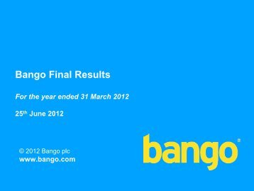 Bango Final Results